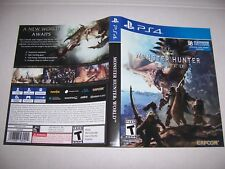 Original Replacement Case Box PlayStation 4 PS4 Monster Hunter World *NO GAME*