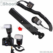 Dual-Hot-Shoe E-TTL II Cord Cable f Canon Speedlite+Camera Holder/Flash Bracket