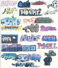 HO COLORFUL GRAFFITI DECALS ASSORTMENT 64  FREE SHIPPING DOMESTIC