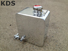 Universal Polished 2.5L Aluminum Radiator Overflow Reservior Water Coolant Tank