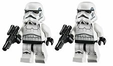 LEGO STAR WARS LOT OF 2 MINIFIGURE STORMTROOPER SAND BLUE RARE 75055 75060