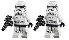 LEGO STAR WARS LOT OF 2 MINIFIGURE STORMTROOPER SAND BLUE RARE 75055 75060