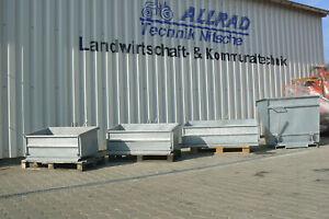 Heckcontainer Kippmulde Lademulde verzinkt mit Schürfleiste 100cm 125cm 150cm