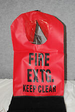 """Brooks FEC1W Small 20"""" x 11-1/2"""" Red Fire Extinguisher Cover With Window #S5802"""