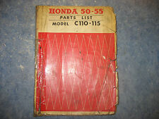 HONDA 50 - 55 C110 C115  PARTS LIST MANUAL BOOK GUIDE C 110 115