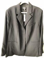 NWT Talbots 22W Women Plus Size Blazer Coat Black Career 3 Button Orig. $224