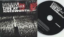 ROBBIE WILLIAMS Live At Knebworth 2003 UK 14-trk promo CD RWKNEBDJ001