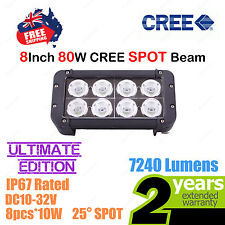 8inch 80W CREE LED Light Bar High Output Ultimate Edition Double Row SPOT Beam