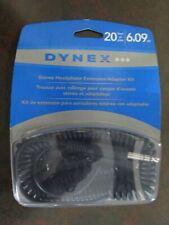 DYNEX – 20' STEREO HEADPHONE EXTENSION / ADAPTER KIT - BLACK
