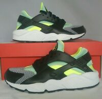 Nike Air Huarache Womens/Juniors Trainers Black/White/Volt Size 5 UK 634835 037