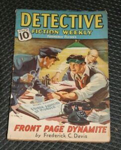 "Detective Fiction Weekly-July 10, 1937-""Front Page Dynamite""-Frederick C. Davis"