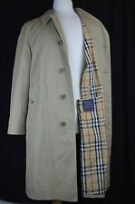 BURBERRY LONDON MENS 38R COTTON LINED TRENCH COAT JACKET
