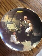 Norman Rockwell Plate And Hanger.