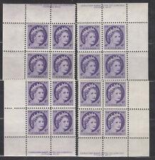 1954 #340i 4¢ NF QUEEN ELIZABETH II WILDING PORTRAIT PLATE BLOCK #17 F-VF