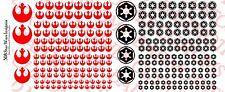 1/18 Scale Tattoos: Star Wars Rebel Alliance Galactic Empire - Waterslide Decals