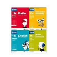 Bond 11+ English 4 Books Set Ages 5-6 Inc Assessment and Tests NEW