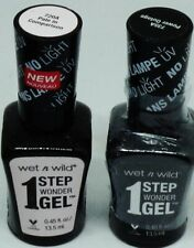 2 Shade WET N WILD 1 Step Wonder Gel Nail Polish NO UV LIGHT NEEDED 720A & 735A