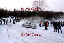 Ari Vatanen Opel Ascona 400 Swedish Rally 1983 Photograph 1