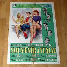 SOUVENIR D'ITALIE manifesto poster Vittorio De Sica Alberto Sordi Isabelle Corey