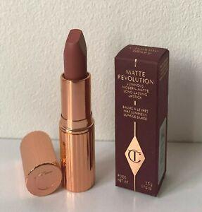 BNIB Charlotte Tilbury Matte Revolution Lipstick in Pillow Talk 3.5g Full Size