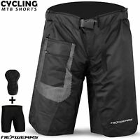 MTB Cycling Short Off Road Bicycle BMX Downhill Fixed Padded Liner Shorts