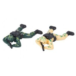 2 X CRAWLING SOLDIERS ARMY ROLE PLAY MILITARY ADVENTURE FIGURE