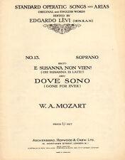 E SUSANNA NON VIEN!/DOVE SONO Music Sheet-LE NOZZE DI FIGARO-MOZART-UK Edition