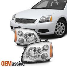 Fit 2004-2012 Mitsubishi Galant Chrome Halogen Type Headlights Lamps Replacement (Fits: Mitsubishi Galant)