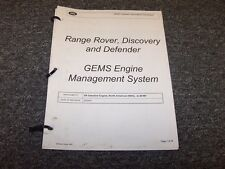 1997 1998 Land Rover Discovery GEMS Engine Management Service Repair Manual