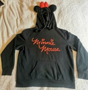 Minnie Mouse Hoodie With Ears And Bow - Size L 14 / 16