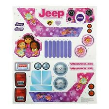 Power Wheels CDD17 Ford Dora The Explorer Jeep Decal Label Sheet Genuine