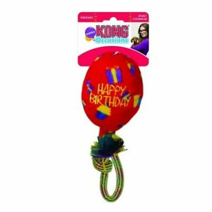 KONG - Occasions Birthday Balloon - Festive Fetch Toy for Medium Dog (Red)