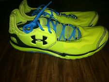 Under Armour UA Charge RC 2 Neon Green Athletic Running Shoes Sneakers Sz 12 Men
