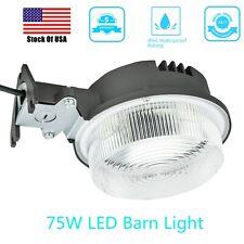 75Watt Outdoor LED Barn Street Security Light Dusk to Dawn Waterproof Floodlight