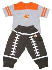 Clemson Tigers Football Pants   Shirt Set Orange Gray Boys Baby 0-3 Month CU 2d4a0fc91