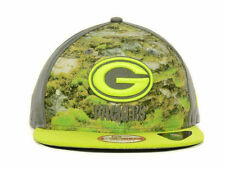 Green Bay Packers New Era NFL Pattern Front 9FIFTY Strapback Cap Hat New S/M