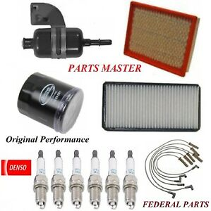 Tune Up Kit Filters Spark Plugs Wire For PONTIAC MONTANA V6; 3.4L 2001-2003