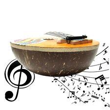 Kalimba Thumb Piano 7 Keys Tunable Coconut Shell Painted Musical Instrument Ke
