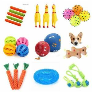 Pet Dog Puzzle Toy Tough-Treat Ball Food Dispenser Interactive Puppy Play Toys^