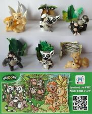 KINDER SURPRISE NATOONS JUNGLE FAMILY ANIMALS FERRERO FIGURES CAKE TOPPERS RAR