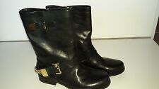 Guess ladies black leather boots size 6 1/2