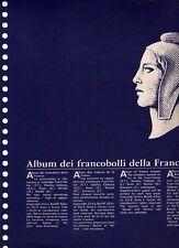 FRANCIA- Fogli Aggiornamento Bolaffi. dal 1944 al 1968. N° 109 fogli in ottime c