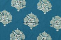 Green Floral Printed Cotton Dressmaking Supply Fabric 44 Wide Sewing By 5 Yard