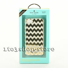 Kate Spade Protective Hardshell Case Cover for iPhone 7 (Chevron Gold Clear) NEW