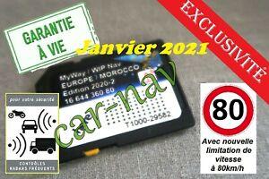 Carte SD GPS Europe - Maroc 2020-2 Peugeot Citroën RNEG WIPNAV - MYWAY + Alerte