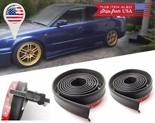 "2 x 100"" Black Splitter EZ Fit Side Skirt Bottom Line Lip Extension for Nissan.."