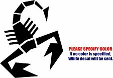 "Fiat Abarth Scorpion Decal Sticker JDM Funny Vinyl Car Window Bumper Truck 7"""