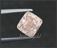 Diamant GIA Zertifikat 0.31 ct, in seltener Farbe rosa, laser markierte Rundiste