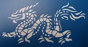 Scrapbooking - STENCILS TEMPLATES MASKS SHEET - Dragon Stencil