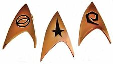 Star Trek Set of 3 COMMAND, SCIENCE & ENGINEERING Chest Insignia PINS